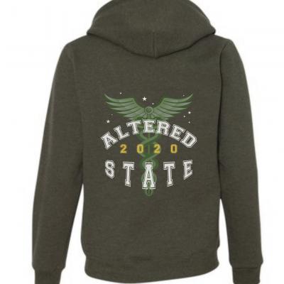 altered state gildan vintage moss hoodie